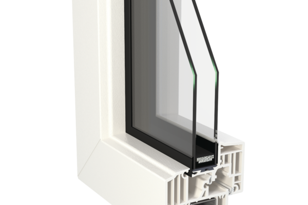Angolo Top 72 Nova line PVC doppio vetro D260-D750