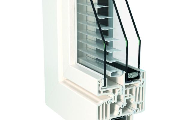 Angolo finestra Top72 Twin-line Classic PVC bianco D260-D241
